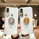 Clear Magnetic Ring Stand Case For iPhone XS Max XR 7 8 Plus Soft TPU Back Cover