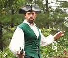 NEW Museum Replicas Windlass Pirate Vest Green Renaissance Medieval Peasant SCA
