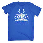 Funny Kids Childrens T-Shirt tee TShirt - I Smile Because Youre My Grandma