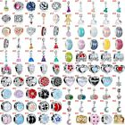 European Silver Charms Dresses Beads Gifts CZ Pendant Fit 925 Sterling Bracelets image