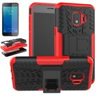 For Samsung Galaxy J2 Core/Dash/Pure Shockproof Armor Stand Case+Tempered Glass