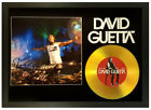 DAVID GUETTA SIGNED GOLD DISC COLLECTABLE MEMORABILIA GIFT -NOTHING BUT THE BEAT