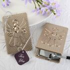 Angel themed mirror compact with a champagne gold finish - Churches Ministries