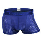 2Pcs Mens Cool Ice Silk Underwear Boxers Breathable Mesh Briefs Underpants Sexy