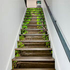 13PCS 3D Self Adhesive Stairs Stickers Waterproof Stair Riser Mural Wall decal