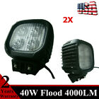 Pair 40W LED Work Light Flood Cube Fit Off road UTE 4X4 Driving Car Vehicle 80W
