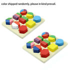 Kids Montessori Early Educational Wooden Learning Baby Toy Geometry Block Puzzle