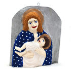 Bas relief with Mother of God / Madonna / polish folk art / art naive
