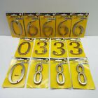 """LOT OF 13 Metal House Address Number Fix It 4"""" Polished Brass Home Decor Street"""