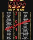 New Men's KISS T-Shirt End of the Road Farewell Tour 2019 -THE FINAL TOUR EVER image
