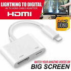 1080P Lightning to Digital HDMI TV AV Adapter Cable for iPhone 6 6S 7 8 Plus X