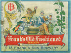 M. FRANK & SONS  BEER LABEL T SHIRT MANSFIELD OHIO  SIZES SMALL-XXXLARGE (F
