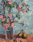 Original Oil Painting Floral Still Life 16x20inch On Canvas