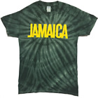 JAMAICA GREEN TIE DYE DESIGN T - SHIRT REGGAE ROOTS CULTURE
