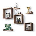 Rustic Wood Wall Shelves With 3 Square Boxes 4 Small L Shelves For Free Grouping