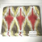 """Threshold - Set Of 6 Dining Placemats 19"""" x 14"""" 100% Cotton - Red Lime Tan White"""
