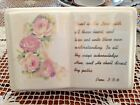VINTAGE GOLD TRIMMED TRUST IN THE LORD WITH ROSES OPEN BOOK PRO 3: 5-6 FIGURINE