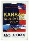 Kansas - Blue Öyster Cult - Alter Konzert-Pass All Areas - laminiert - s. Bild