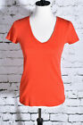 BANANA REPUBLIC Size Medium Red Blouse Stretch Tee Shirt