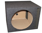 Auto Vented Subwoofer 10in Unloaded Box Car Sub Woofer MDF Wood Single Enclosure