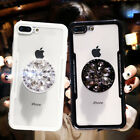 Cute 3D Diamond drill flower ring soft case for iphone 5 S 6 7 8 plus X XR XS