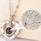 I Love You in 100 Languages Projection Light Pendant S925 Necklace and Bracelet