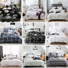 Soft Cotton Blend Print Duvet Quilt Cover Bedding Twin Queen Full King US Size image