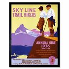 Travel Event Annual Hike Mountain Hike Lake Forest Canada 12X16 Framed Art Print