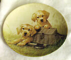 """Knowles """"Gone Fishin'"""" Collector's Plate-Perfect Condition-No.14448A//Retriever"""