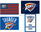 NEW! Oklahoma City Thunder Flag 100D Polyester 3x5ft Mancave NBA FAST SHIPPING on eBay