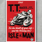 A3 A6 Vintage MOTORCYCLE POSTER - ISLE OF MAN TT - 1960s - Retro Art HQ Print
