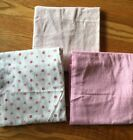 Carters Pink Receiving Blsnkets Lot Of 3 Pre-owned