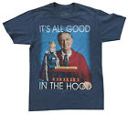 Mr Rogers It's All Good in the Hood Navy Heather Men's Graphic T-Shirt New