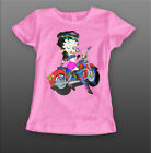 Betty Boop Motorbike Funny Kids ,Girl Quality Short Sleeve T-shirt £12.99 GBP on eBay