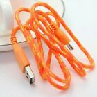 Braided USB Micro Cable Sync Charger Data Lead For Andriod Smart Phone Samsung