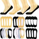 3-12 Pairs Women Low Cut No Show Socks Nonslip Invisible Flat Liner Boat Loafer
