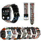 For iWatch Plaid Leather Watch Strap Band For Apple Watch Series 1/2/3/4 38-44mm image