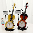 Beautiful Violin Shape Table Alarm Clock Perfect Home Decor Music Lover Gift