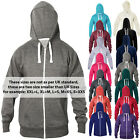 New Women Plain Fleece Hoodie Zipper Jacket Warm Sweatshirt Casual Top Hooded