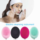 Face Clean Massage Electric Facial Brush Deep Pore Scrubber Cleanser Silicone