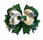 Green Tractor Boutique Hair Bow