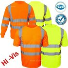 Hi Vis T Shirt Safety Work ANSI Class 3 Long Sleeve High Visibility Reflective image