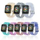 Apple Watch iWatch Series 5 4 40/44mm Soft rubber Lady Wrist Band Bling Strap US image