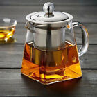 Внешний вид - 1X Clear Loose Leaf Tea Heat-resistant Glass Teapot With Infuser Stainless Steel