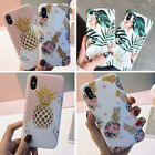 For Iphone 8 Plus 7 Plus XS Max XR Floral Pineapple Girls Cute Phone Case Covers