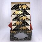 AC26 Japanese Hina Doll Miniature Furniture Vtg Wood Lacquer Lunch Bento Jubako