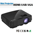 LCD LED Home Theater Projector HD 1080p Movie Video Wired Sync HDMI VGA USB