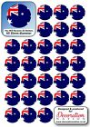 Australia Flag STICKERS Decoration Fun Kids Australian Aussie Canberra Sydney