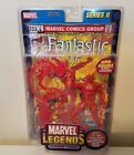 TOY BIZ MARVEL LEGEND SERIES II HUMAN TORCH 32 PG COMIC BOOK & WALL DISPLAY STD