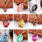 Women's Fashion Silver Chain Crystal Rhinestone Pendant Necklace Jewelry Gift image
